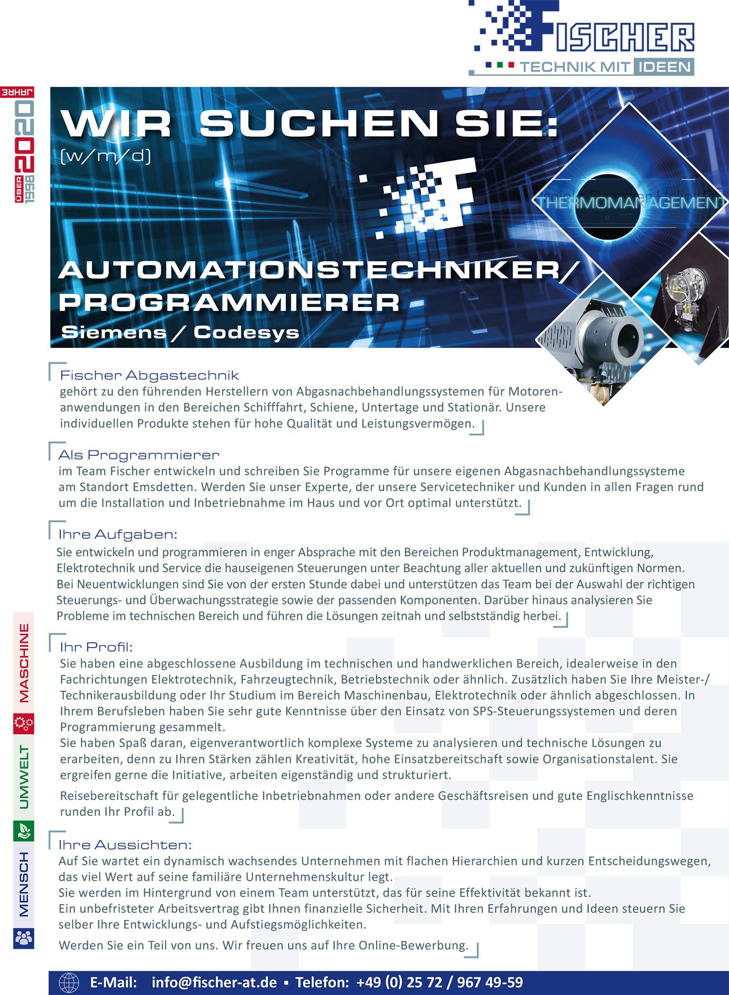 Automationstechniker und Programmierer
